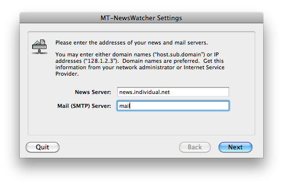 NewsWatcher - Settings
