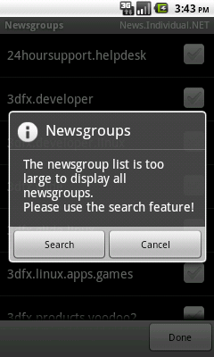 Newsgroups: list too long